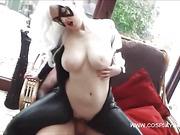big tits, hardcore, masked, sex