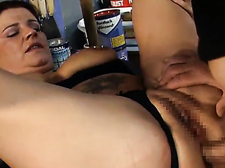 mature brunette gets pummeled
