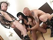 big tits, hardcore, spanish, threesome