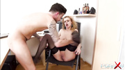 dick-sucking blondie black stockings