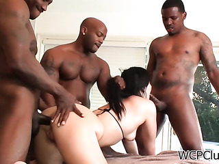 extreme interracial triple penetration