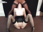 amateur, fishnet stockings, natural tits, sex toys