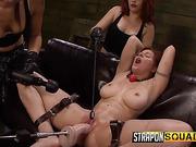 ass, lesbian, throat, tied