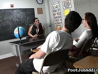 full-bosomed lady teaches schoolgirl