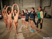 cage, lesbian, sorority, wrestling
