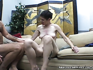 short-haired slut with hairy