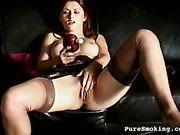 beautiful, pussy, smoking, vibrator