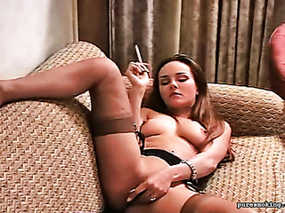 erotic smoking and pussy