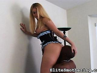 perky blondie corset gets