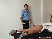 caning, pain, spanking, table