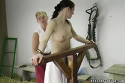 helpless dark-haired gal has