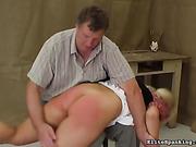 caught, panties, skirt, spanking