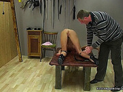 asshole, spanking, table, tight