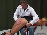 bent over, spanking, video, wild