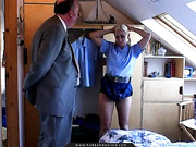 young blonde policewoman gets