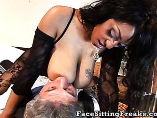 full-bosomed ebony wants satisfy