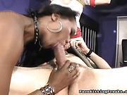ass, femdom, threesome, video
