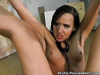 long-haired brunette gets her