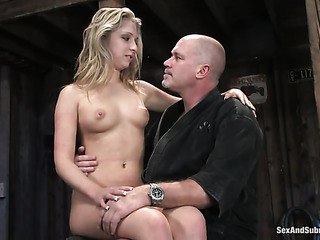 hogtied gagged blonde girl