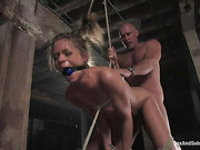 beautiful, bondage, tied, tight