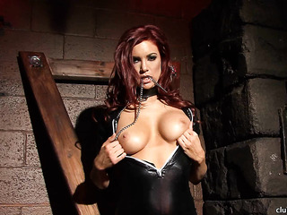 bound redhead slut latex