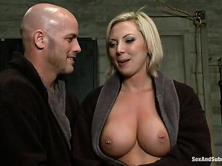 big-boobed blondie gets tortured