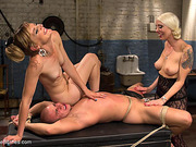 dungeon, femdom, punish, strap-on