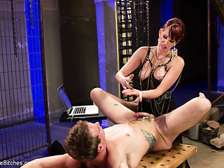 gorgeous red mistress humiliating