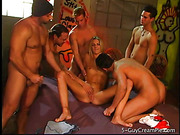 blonde, group sex, orgy, student