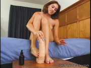 naked brunette girl practicing
