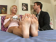 blonde, feet, foot