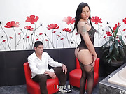 black, shemale, stockings, tranny