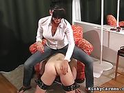 balls, femdom, tied, tied up