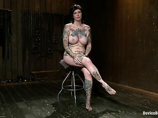 tattooed bitch boots enjoys