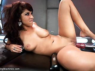 young sexpot set her