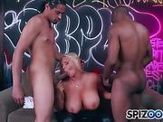 black, milf, on her knees, pornstars