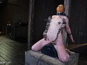 bondage, collar, rubber, tight