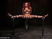 bondage, chained, nipples, tits