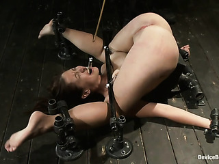 submissive woman gets bound