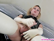 latex, office, shemale, tranny