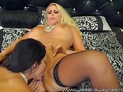 blonde, lesbian, lick, pussy