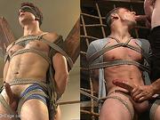 bondage, gay, tongue, wild