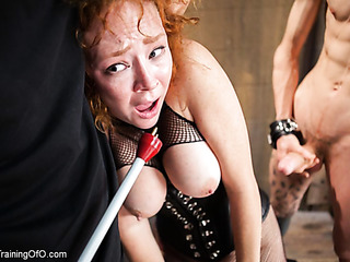 redhead with white skin