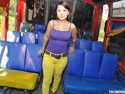 bus, latina, tetas