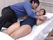 babe, japanese, swimsuit, threesome