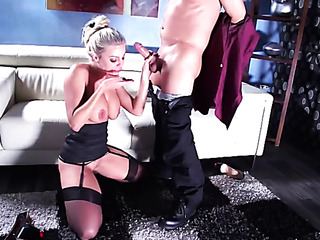 luscious blonde lady lingerie
