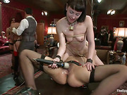 polish, rough sex, slave, table