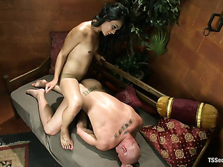 alluring asian tranny gives