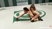 slutty wrestler uses strap-on