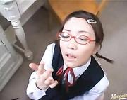 nerdy japanese babe hard